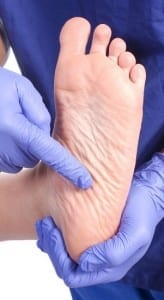 foot with peripheral neuropathy